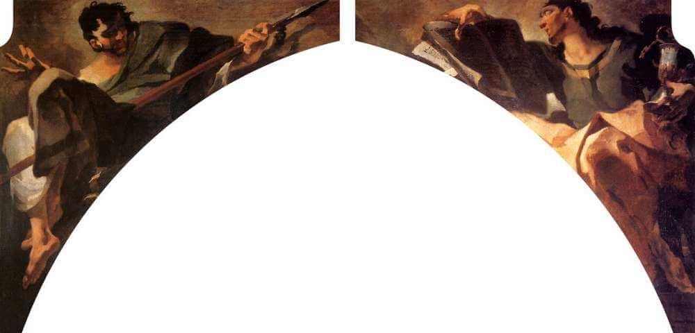 Giovan Battista Tiepolo - Apostolo Tommaso e Apostolo Giovanni