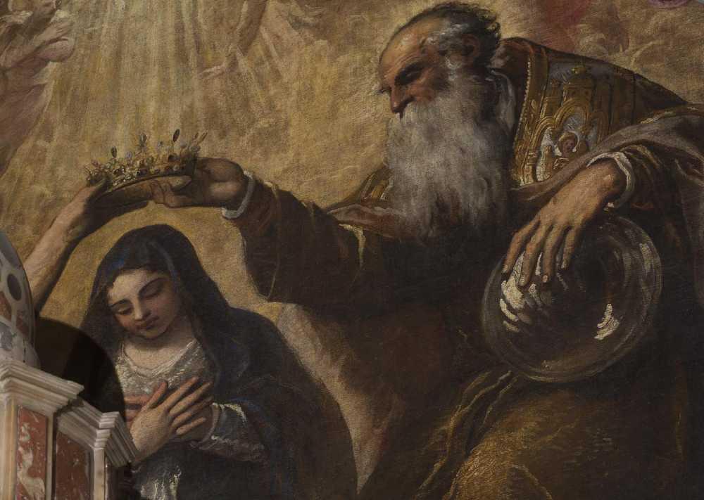Incoronazione della Vergine - dettaglio