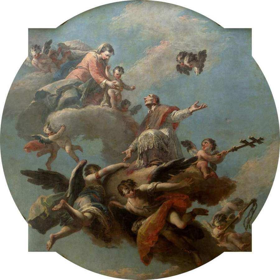 Jacopo Marieschi - La Madonna e san Lorenzo Giustiniani in gloria