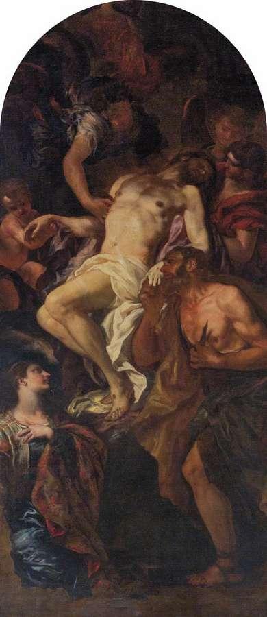 Johann Carll Loth - Cristo deposto