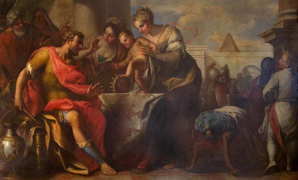 Nicolo Bambini - Mosè bambino calpesta la corona del faraone