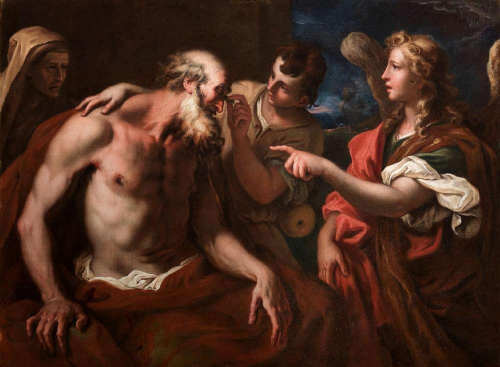 Sebastiano Ricci - Tobia restituisce la vista al padre Tobi