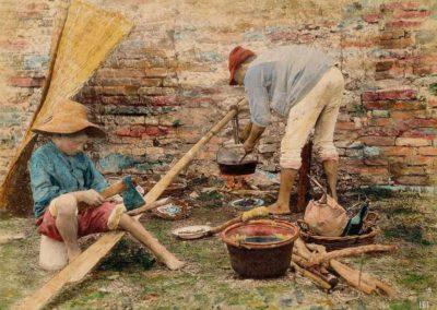 collezione archivio immagini venezia di tomaso filippi - dipinto