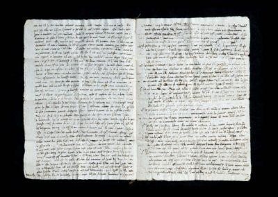 gallerie dell accademia - omaggio a lorenzo lotto - dettaglio manoscritto