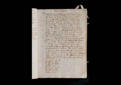gallerie dell accademia - omaggio a lorenzo lotto - pagina del manoscritto
